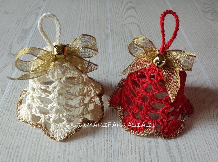 campane natalizie uncinetto schema