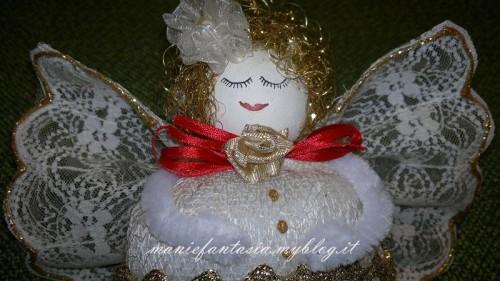 addobbi natalizi fai da te angelo riccioli d'oro