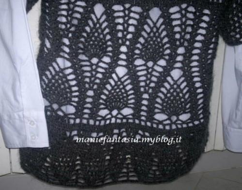 maglione uncinetto donna a maniche corte