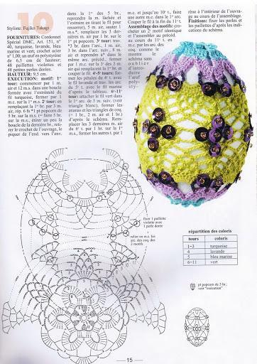 schemi uncinetto uova di pasqua bicolore