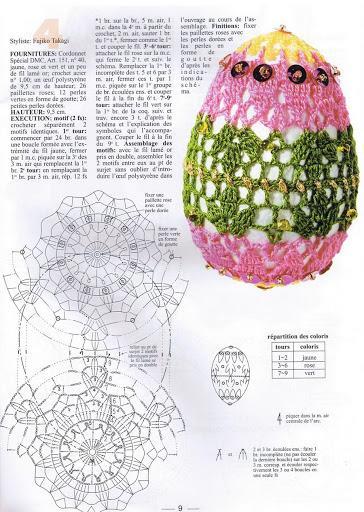 uova uncinetto schema bicolore