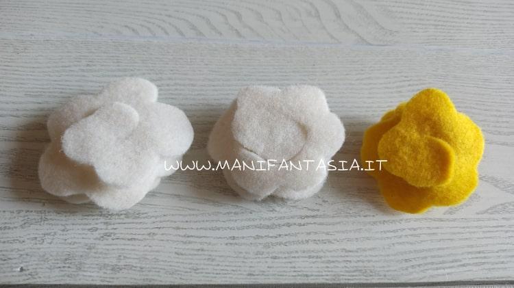 realizzare rose di pannolenci metodo 2