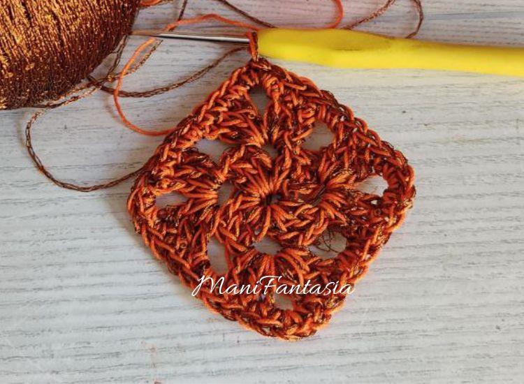 collana uncinetto fiori e rombi tutorial
