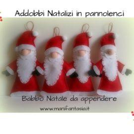 addobbi natalizi pannolenci babbo natale