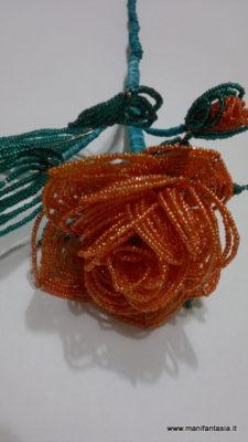 fiori di perline la rosa inglese-tutorial