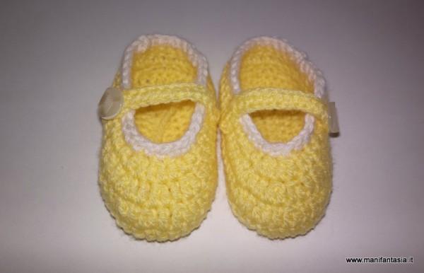 scarpine uncinetto neonato tutorial