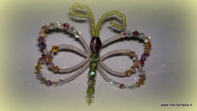 tutorial farfalla di perline e cristalli