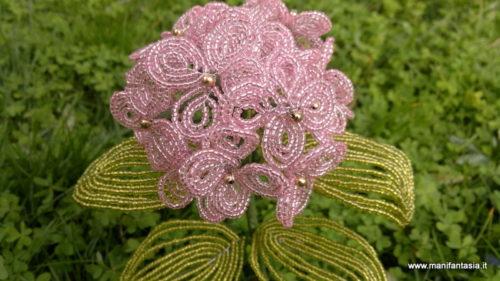 tutorial fiori di perline ortensia