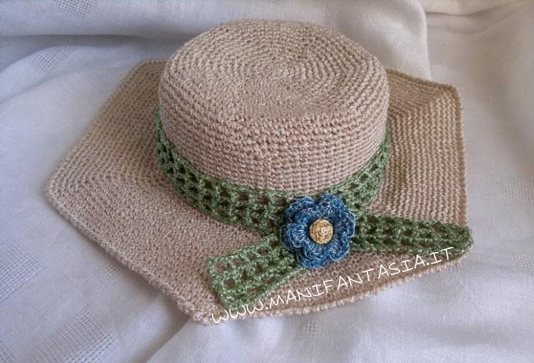 cappello uncinetto estivo schema