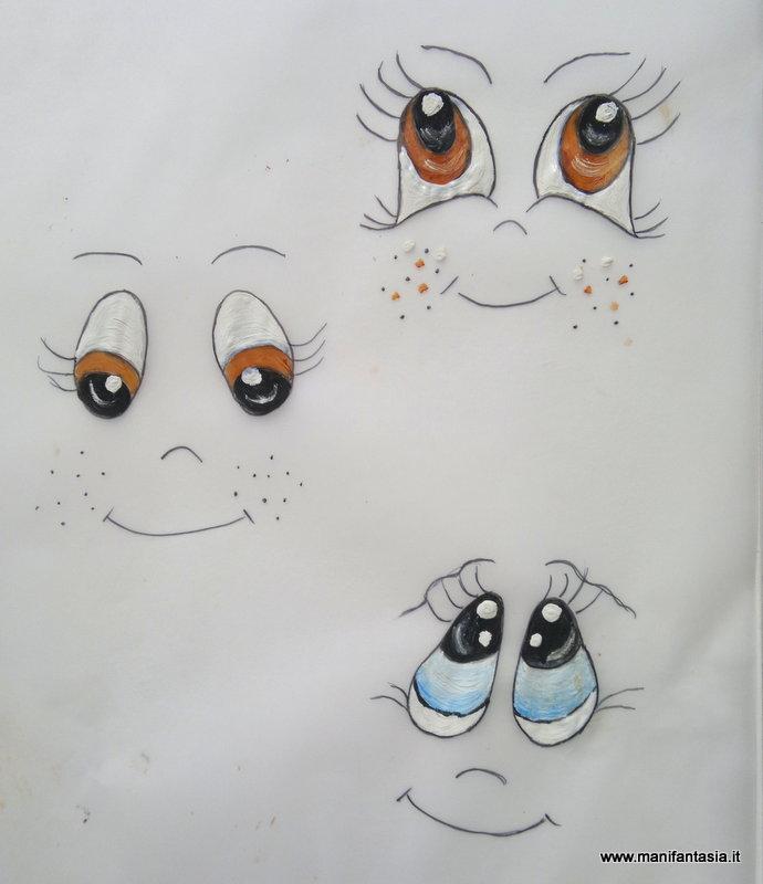 tutorial come dipingere gli occhi alle bambole e pupazzi