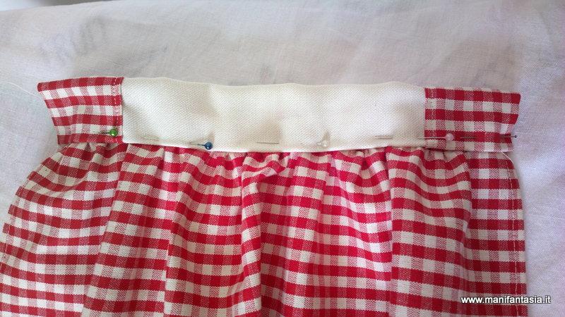 Tutorial come fare le tendine per la cucina manifantasia for Cucire tende a vetro
