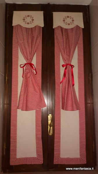 Tutorial come fare le tendine per la cucina manifantasia - Tende da cucina per porta finestra ...