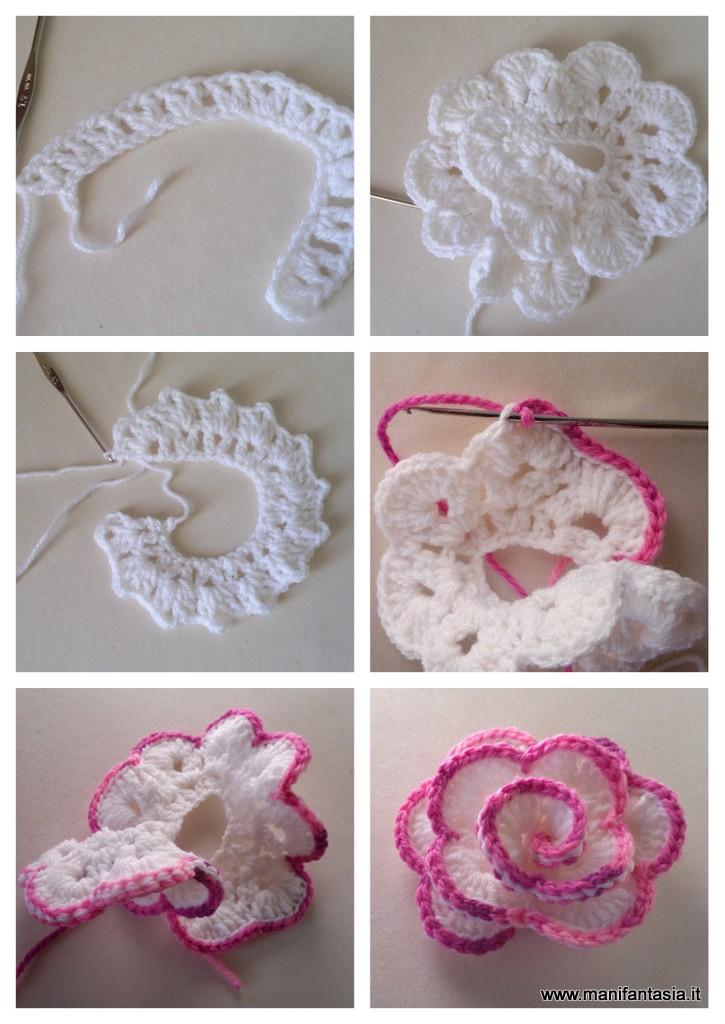 Rose uncinetto di lana tutorial e schemi manifantasia - Piastrelle di lana all uncinetto ...