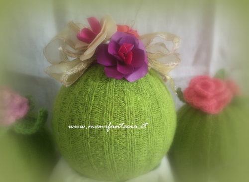 riciclo creativo natale sfere di maglia