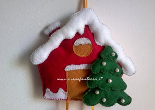 Fuori porta natalizio in pannolenci fai da te manifantasia - Porta tazze fai da te ...