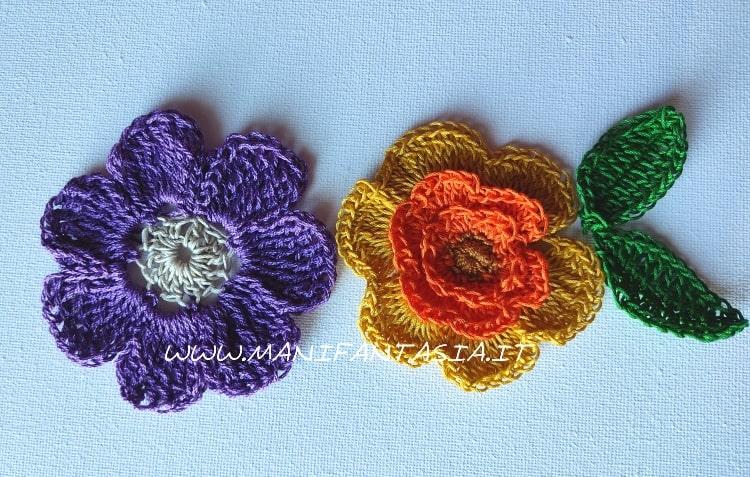 fiori uncinetto di cotone