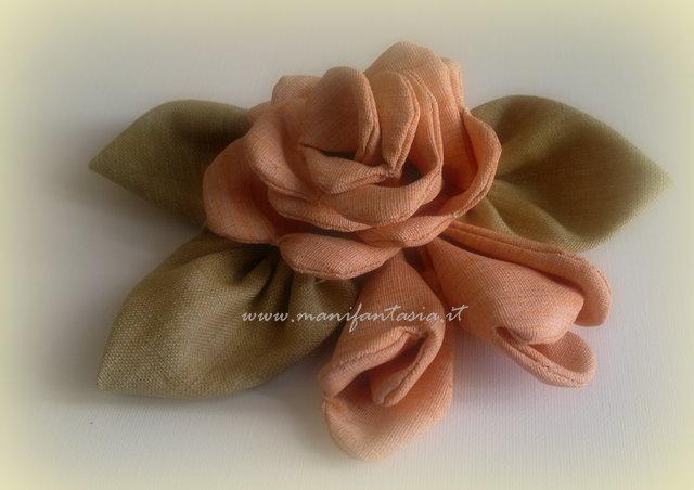 rosa di stoffa fai da te cucito creativo