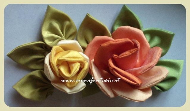 rose di stoffa fai da te tutorial