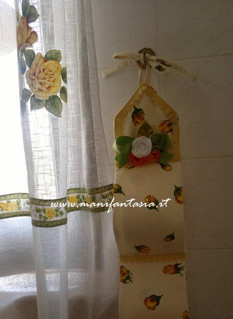 Come fare un portarotoli da bagno in stoffa manifantasia for Portasalviette di carta da bagno