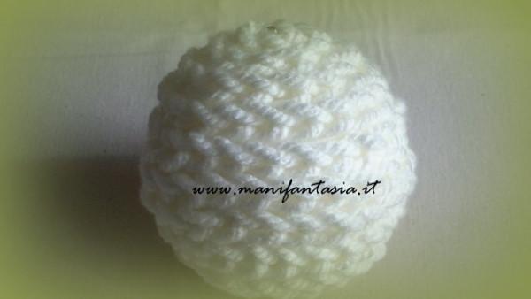 palline di polistirolo rivestite di lana