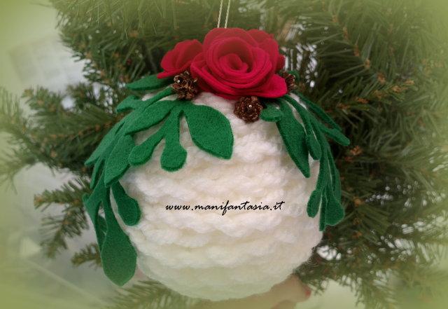 Decorazioni natalizie fai da te palline di lana manifantasia - Decorazioni natalizie albero fai da te ...
