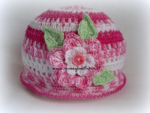 cappellini uncinetto bimba schema e spegazioni