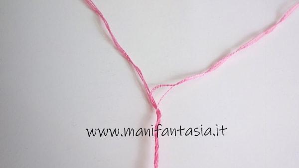 punto croce come separare i fili