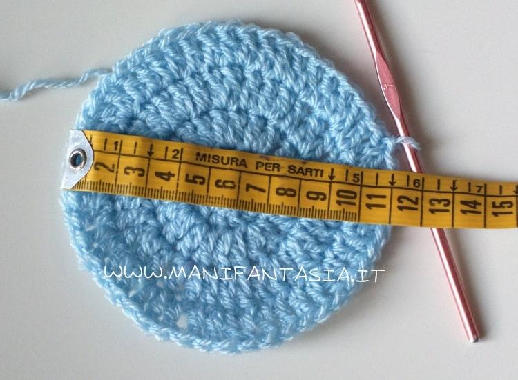 schema cappellino uncinetto 3-6 mesi