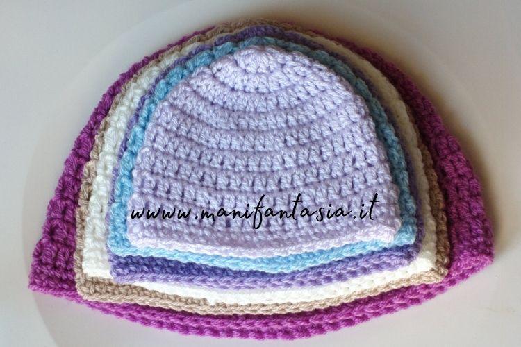 cappelli uncinetto schemi base