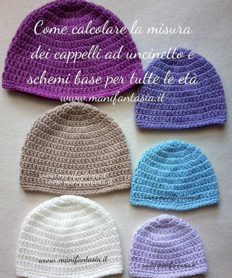 come calcolare la misura dei cappelli uncinetto schemi