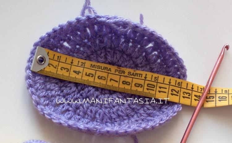 schema cappellino uncinetto base 6-12 mesi