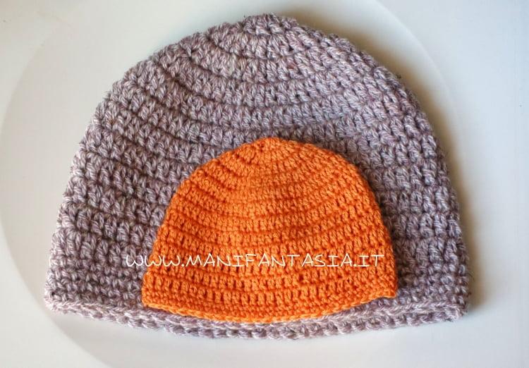 schema cappello uncinetto base