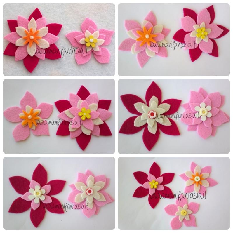 fiori di feltro 10 facili tutorial senza cucire - manifantasia