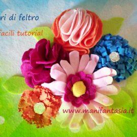 fiori di feltro 10 facili tutorial senza cucire