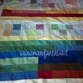 come fare una trapunta patchwork con avanzi di stoffa