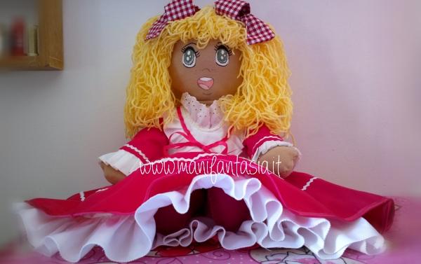 Candy Candy bambola di stoffa fatta a mano