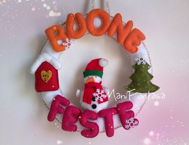 fuori porta natalizio in feltro