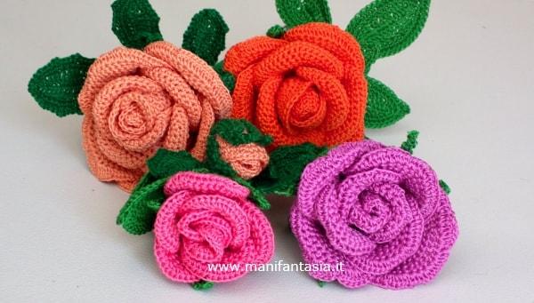 come fare rose all'uncinetto con filo di ferro