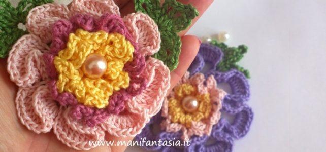 fiori uncinetto per applicazioni tutorial