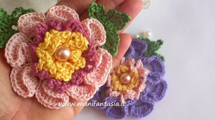 fiori uncinetto per applicazioni tutorial italiano