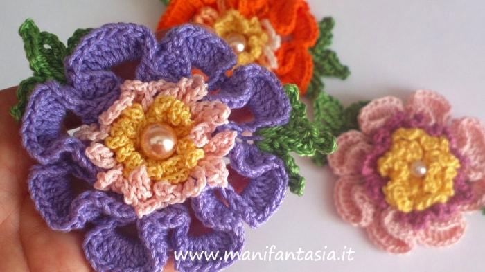 fiori uncinetto per decorazioni