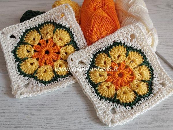 granny squares african flower tutorial