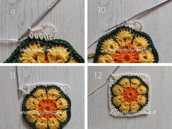 mattonella uncinetto fiore africano