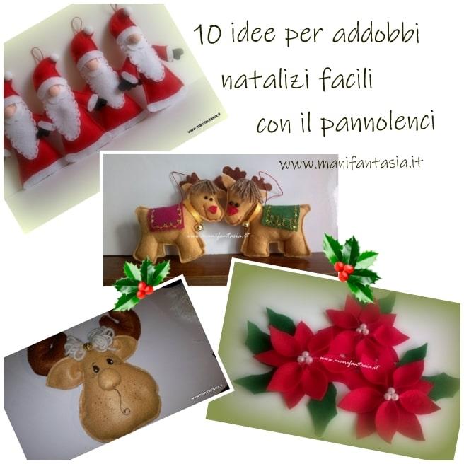 addobbi natalizi fai da te in pannolenci idee