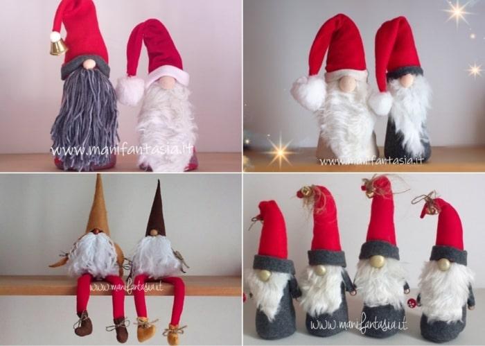 addobbi natalizi in feltro e pannolenci gli gnomi