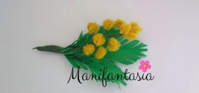 come fare le mimose con gli scovolini