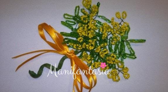 mimose fai da te con le perline