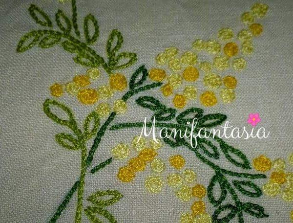 mimose fai da te ricamate