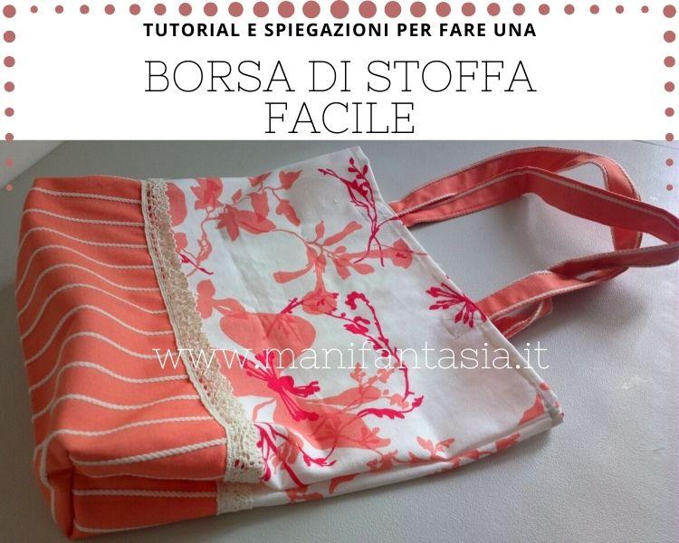 Come cucire una borsa di stoffa facile