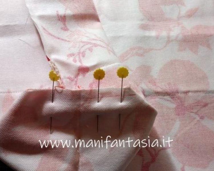cucire gli angoli di una borsa